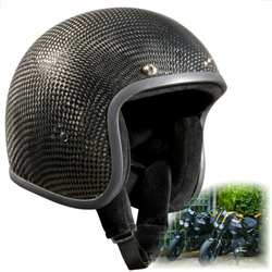 Bandit Genuine Carbon Jet Helmet - Retro Motorcycle Helmet 001