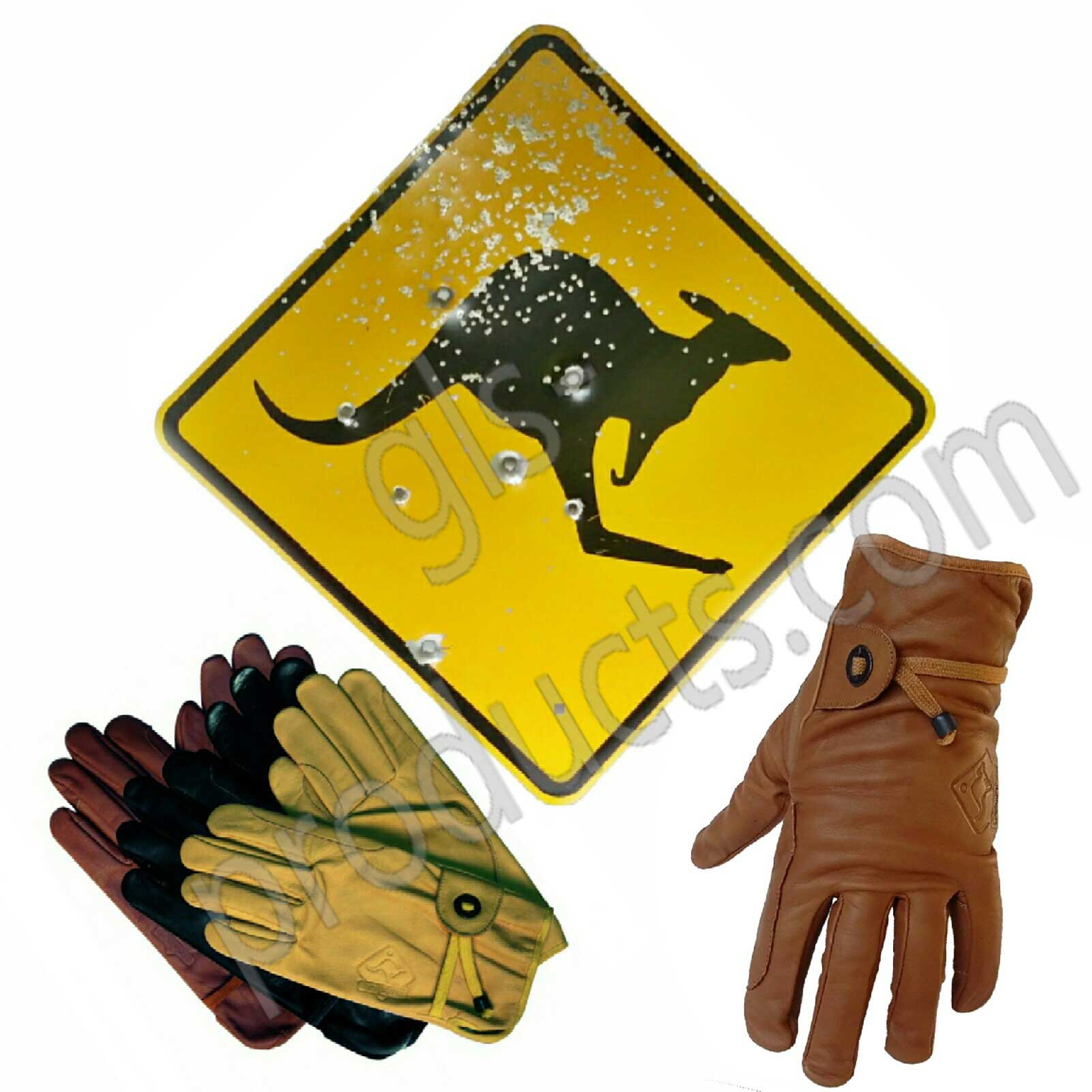 Australian Outback Leather Gloves – Picture 2