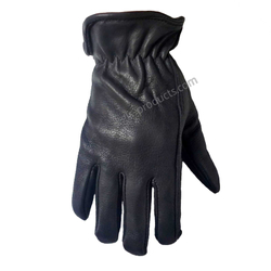 Deerskin Leather Gloves mit Futter 001