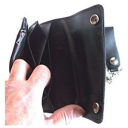 Biker Wallet with outside zip – Bild 3