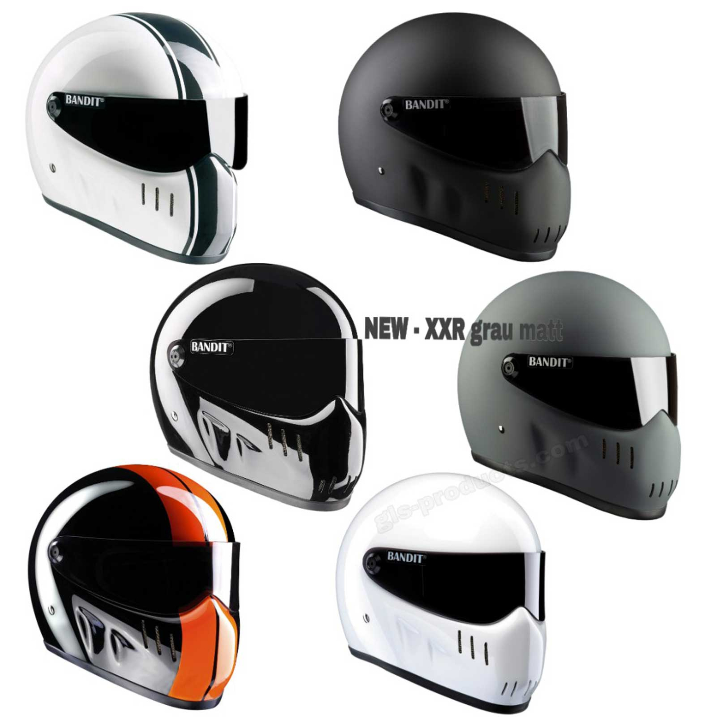 Bandit - XXR - New Motorcycle Helmet - for Streetfighter, Mad Max