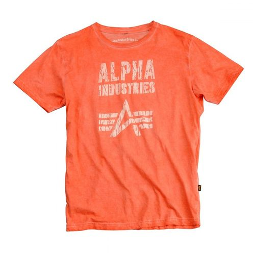 Alpha Industries T-Shirt Crack Print T – Bild 3