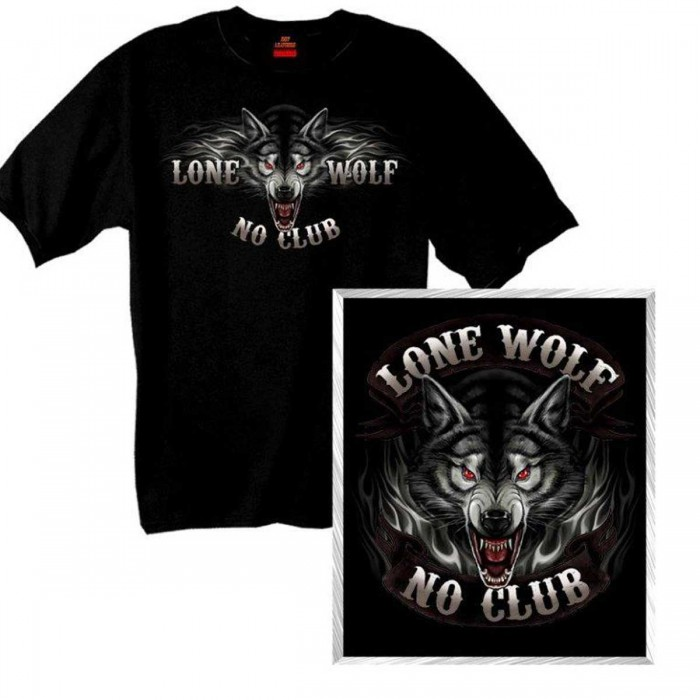 Lone Wolf Full Face T-Shirt GMD1007