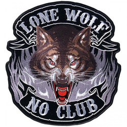 "Lone Wolf Full Face Patch 11"" 001"