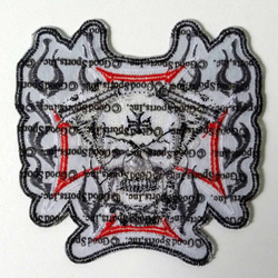"Cross Motor Skull Patch 11"" PPA1837 – Bild 2"