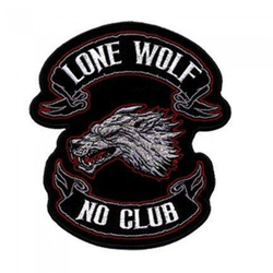 "Lone Wolf Patch 4"" 001"