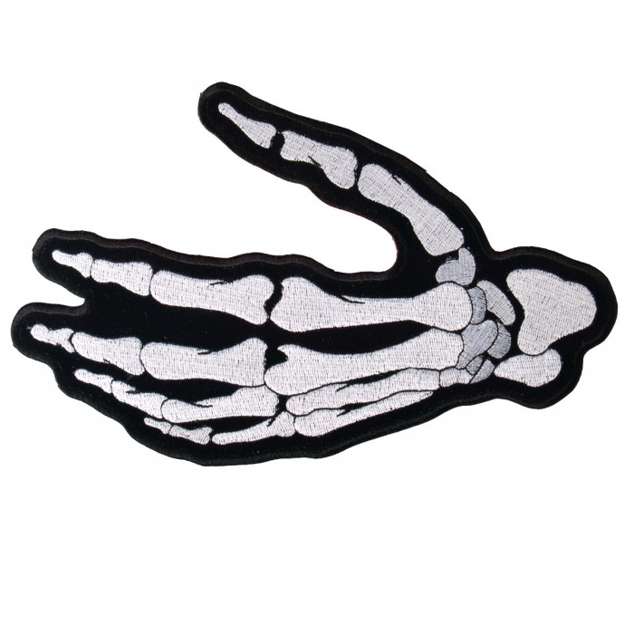 "Skeleton Hand LEFT Patch 4"" PPA5252"