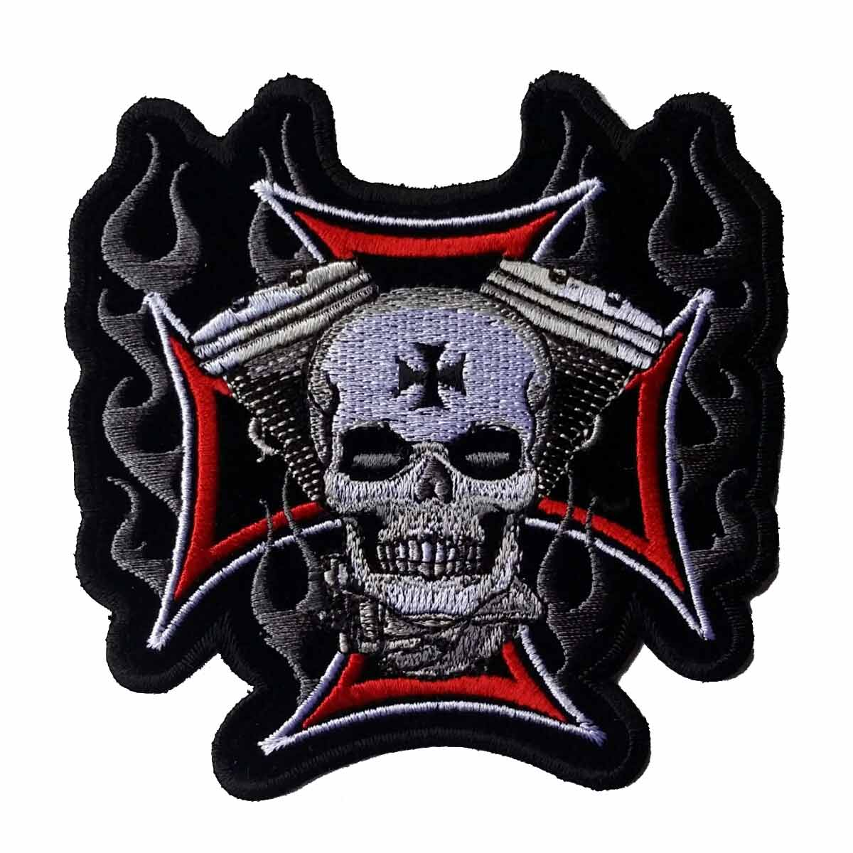 "Cross Motor Skull Patch 4"" – Picture 1"