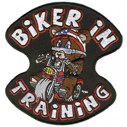 "Biker in Training Patch 4"" 001"