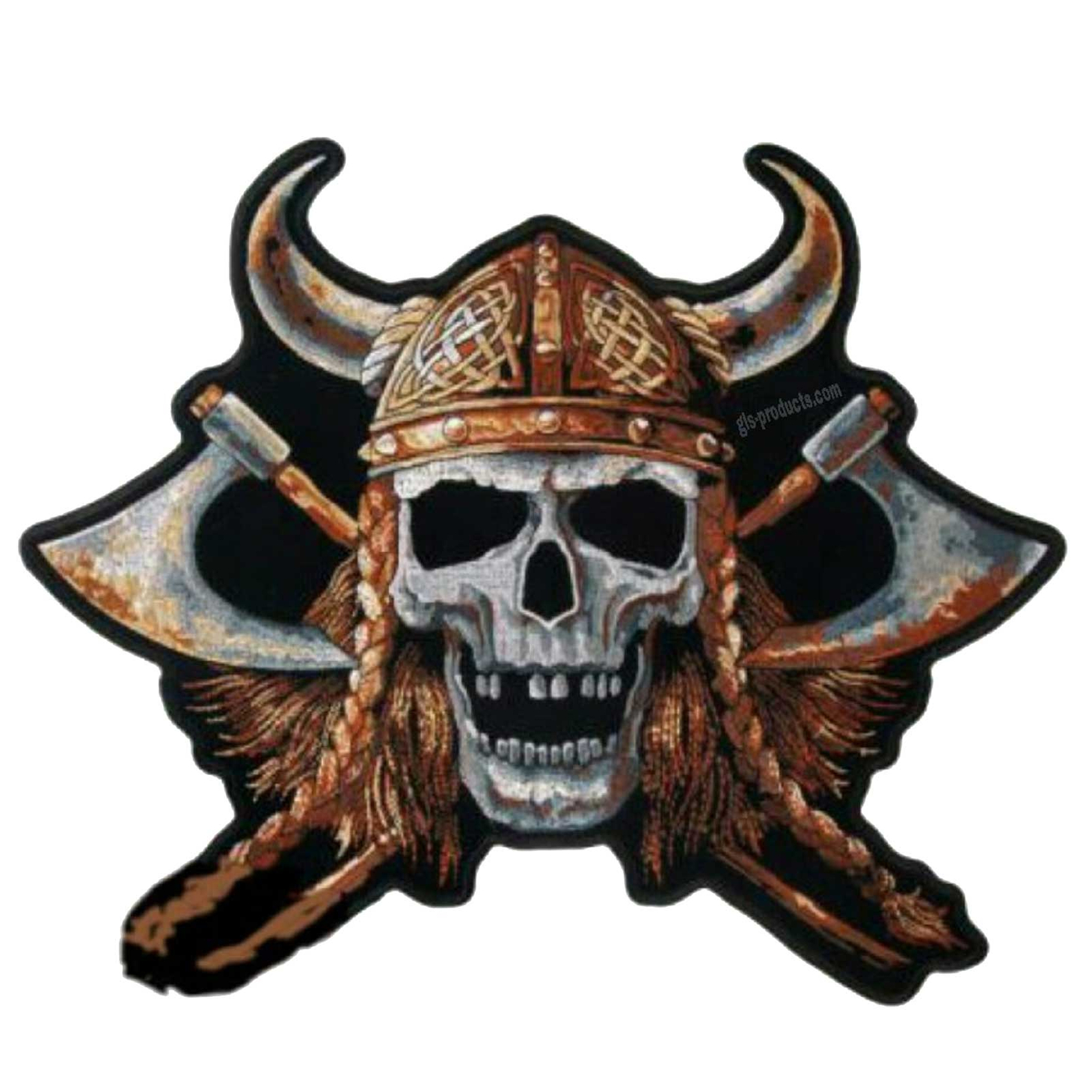 Viking Skull Patch 6""