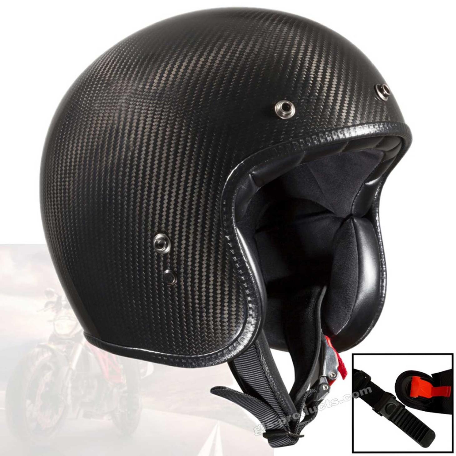 ECE-certified Carbon jet helmet by Bandit Helmets – Picture 1