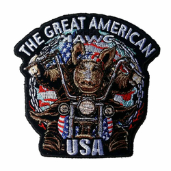 "The Great American Hawg Patch 5"" PPA295 001"
