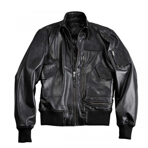 Alpha Industries Engine Leather Jacket – Picture 2