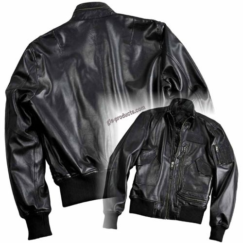 Alpha Industries Engine Leather Jacket – Picture 1