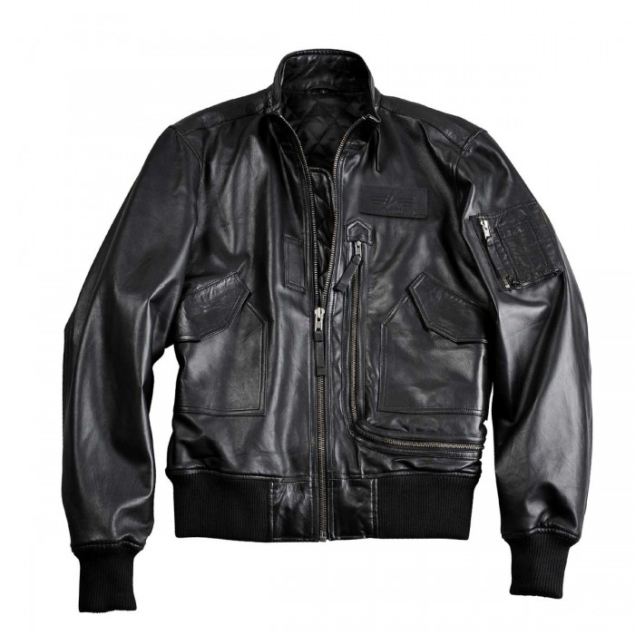 Alpha Industries Engine Leather Jacket 158151 – Picture 2