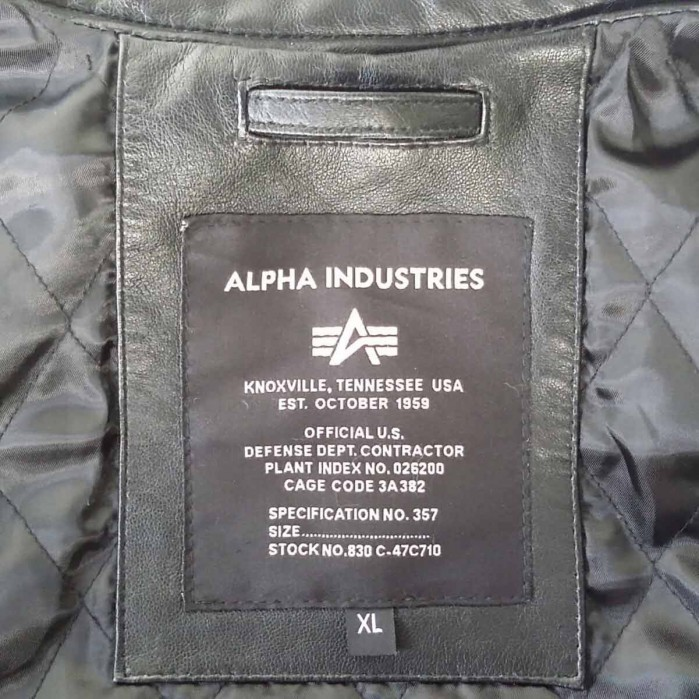 Alpha Industries Engine Leather Jacket 158151 – Picture 8