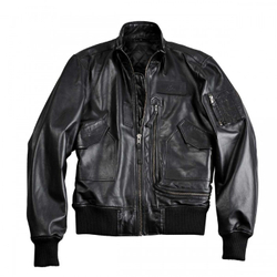 Alpha Industries Engine Leather Jacket 158151 – Bild 2