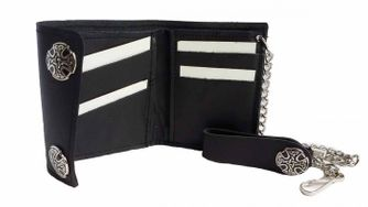 Biker Credit Card Wallet Celtic Circle 4 Inches – Picture 2