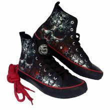 Hi Top Sneakers Death Bones  – Bild 3