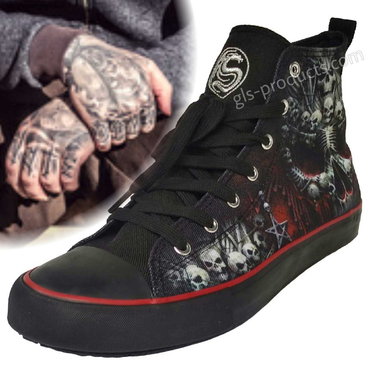 Hi Top Sneakers Death Bones T126S001 – Picture 1