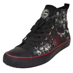Hi Top Sneakers Death Bones T126S001 – Bild 2