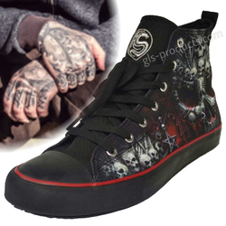 Hi Top Sneakers Death Bones T126S001 – Bild 1