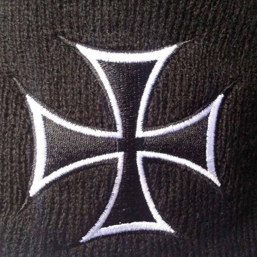 Biker Twin Set Iron Cross Wallet + Beanie – Bild 5