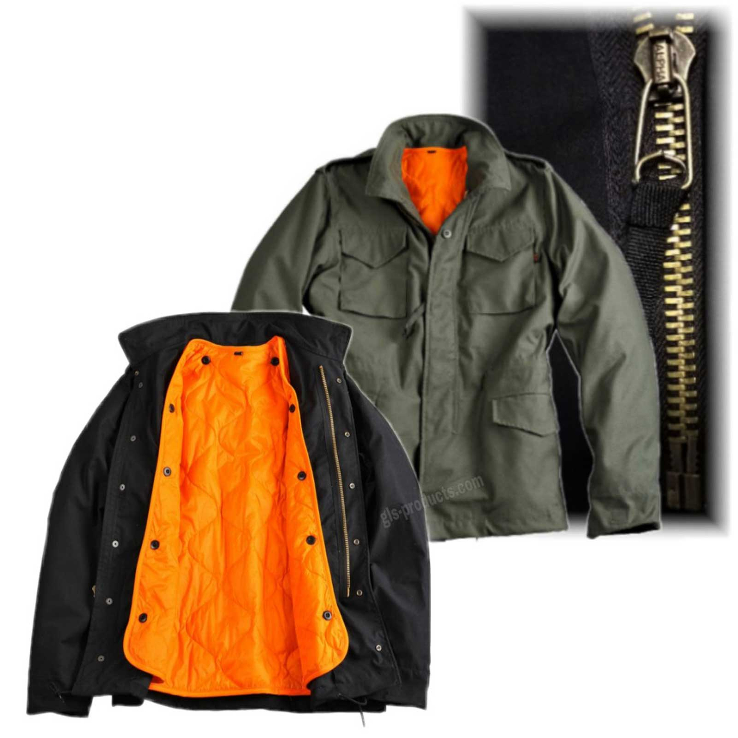 Alpha Industries M-65 Heritage Parka with detachable liner 143115
