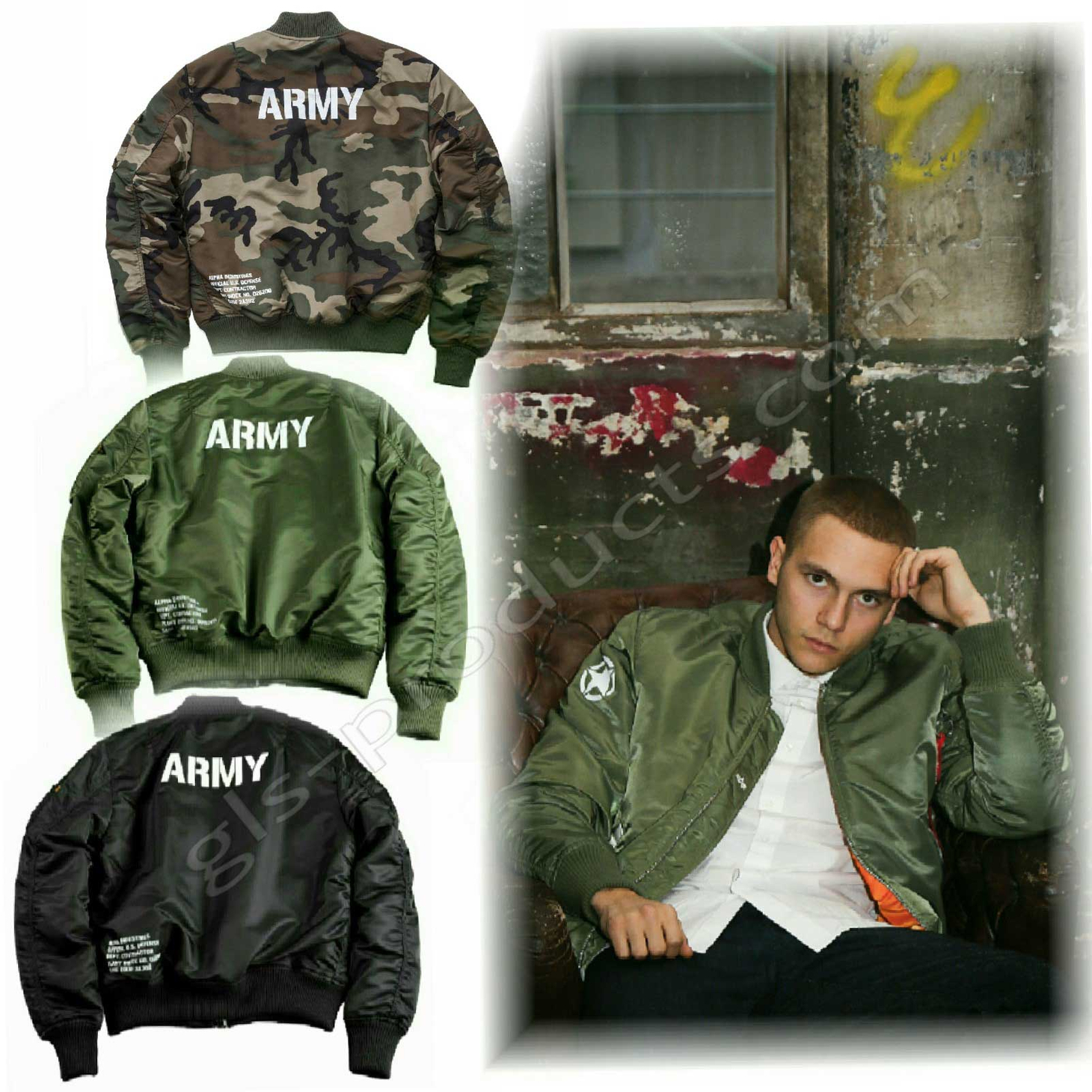 Alpha Industries MA-1 VF 59 Army Bomber 168108