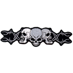 "Barbed Wire Skull Patch 4"" PPA1052 – Bild 1"