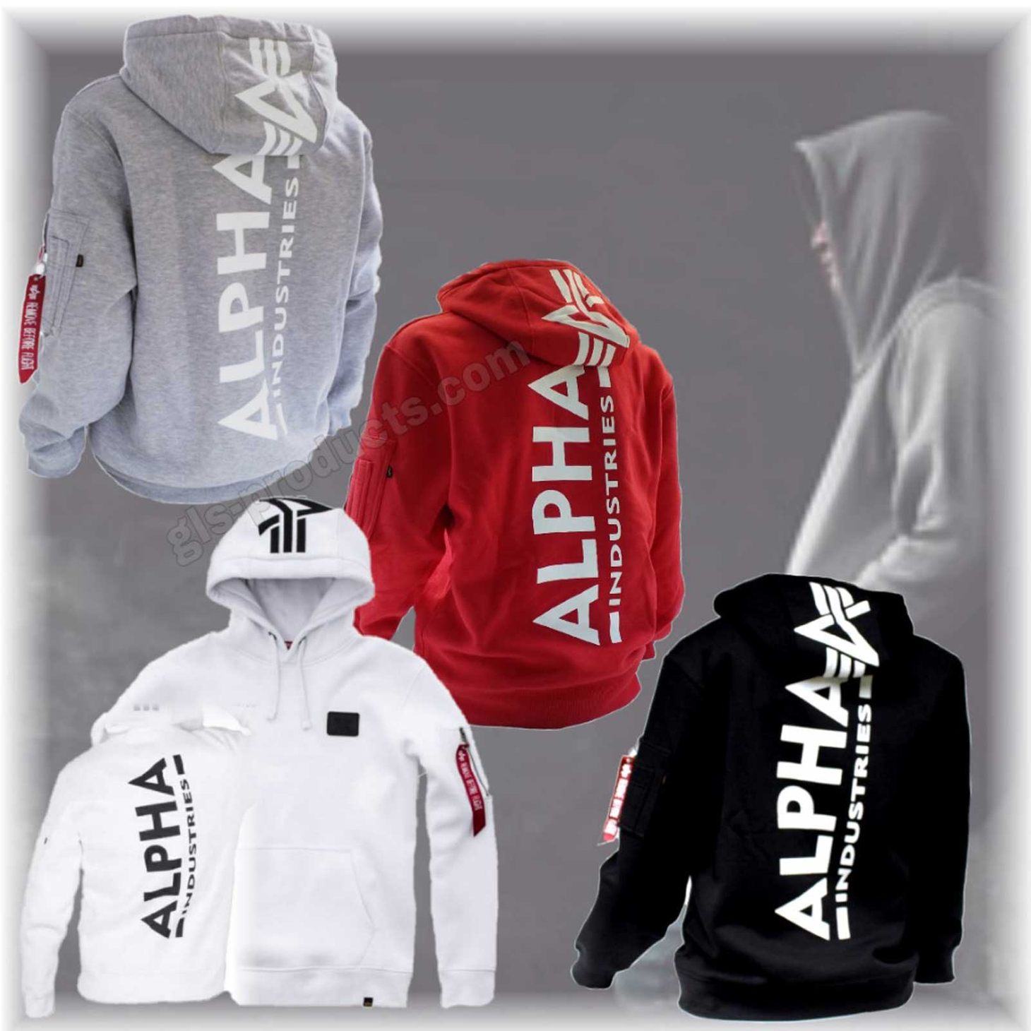 Alpha Industries Back Print Hoody 178318