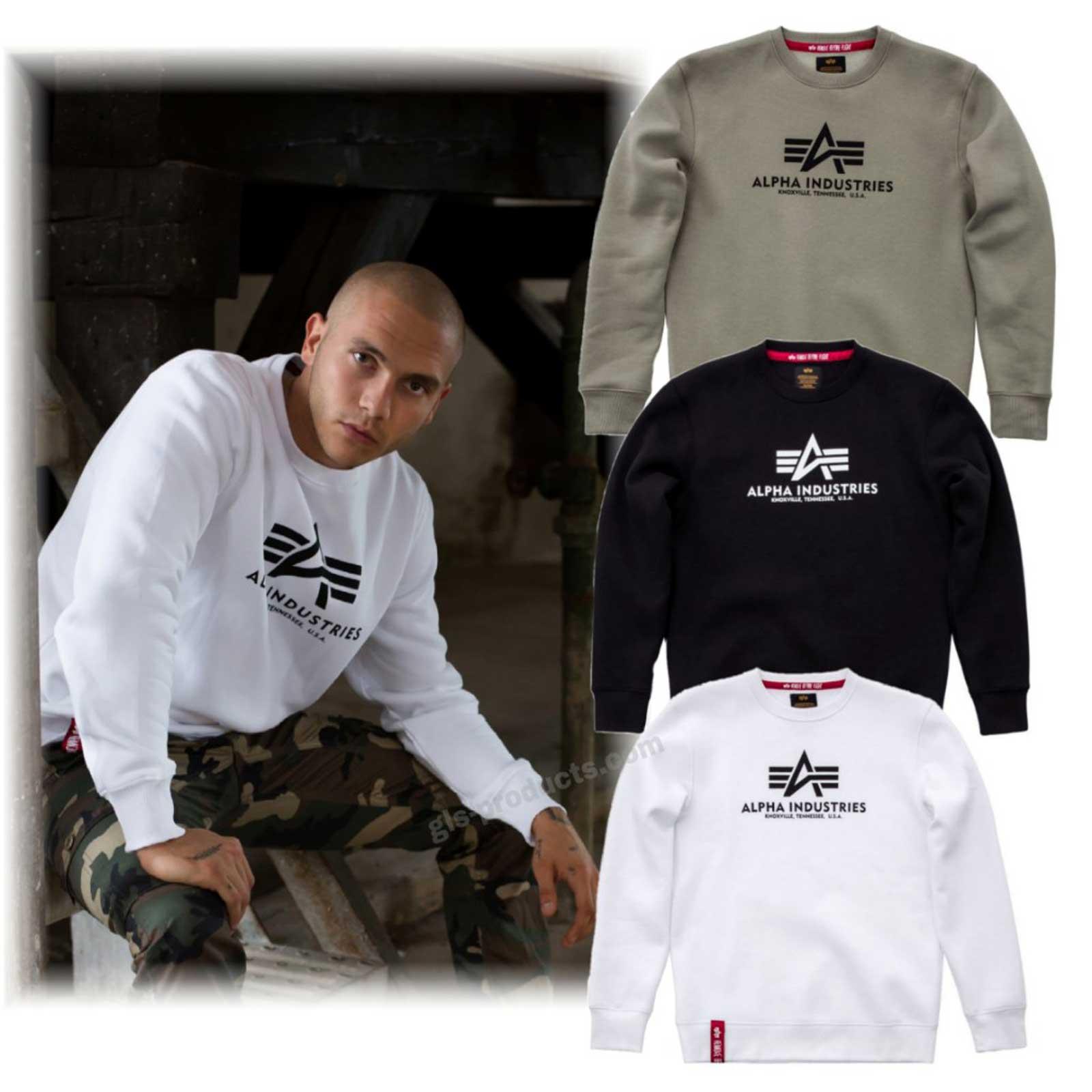 1cf66ce8f Alpha Industries Basic Sweater 178302 | gls-products.com