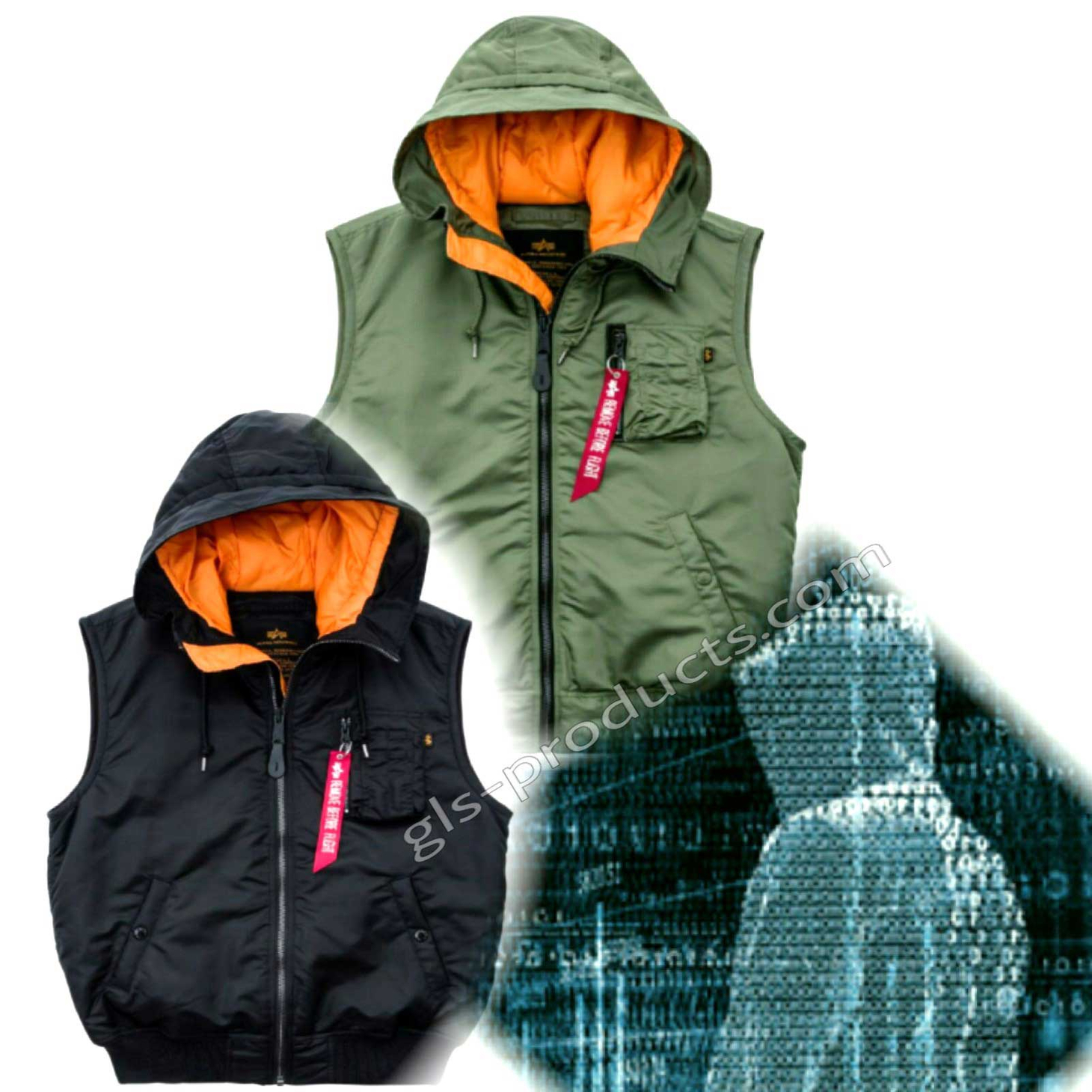 Alpha Industries Hooded MA-1 Vest 17832