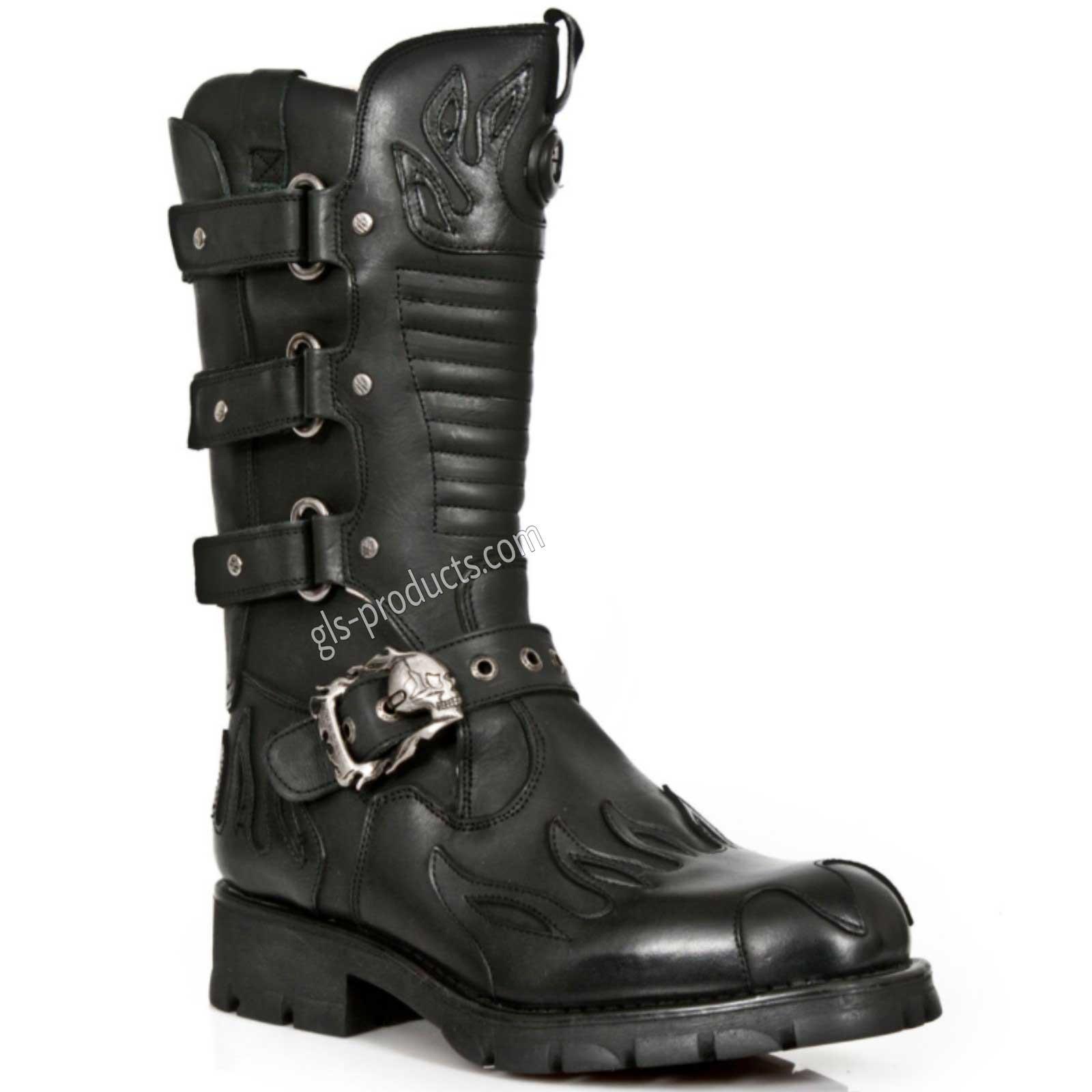 bb80f233b4b3 New Rock Biker Boots M 7603-C2