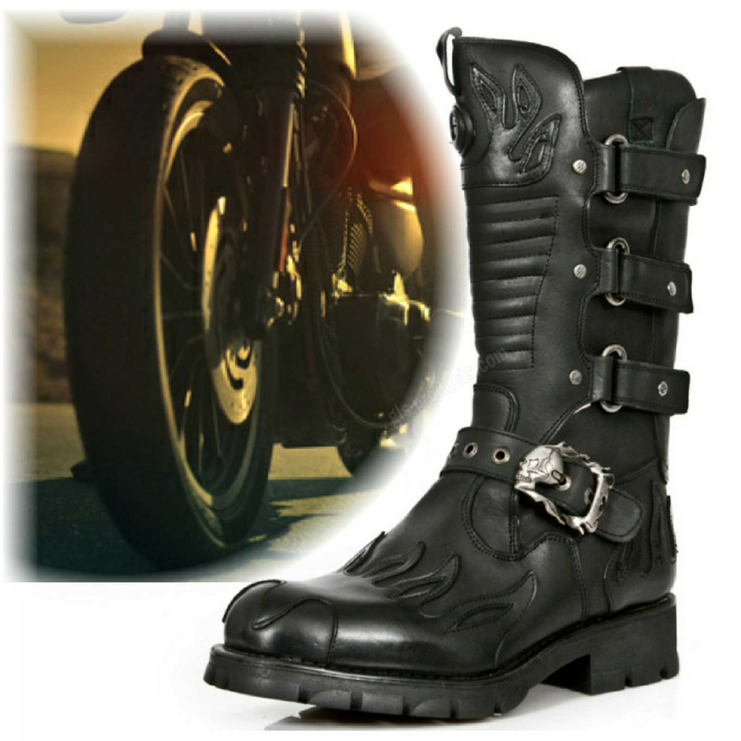 New Rock Biker Boots M 7603-C2 – Picture 1