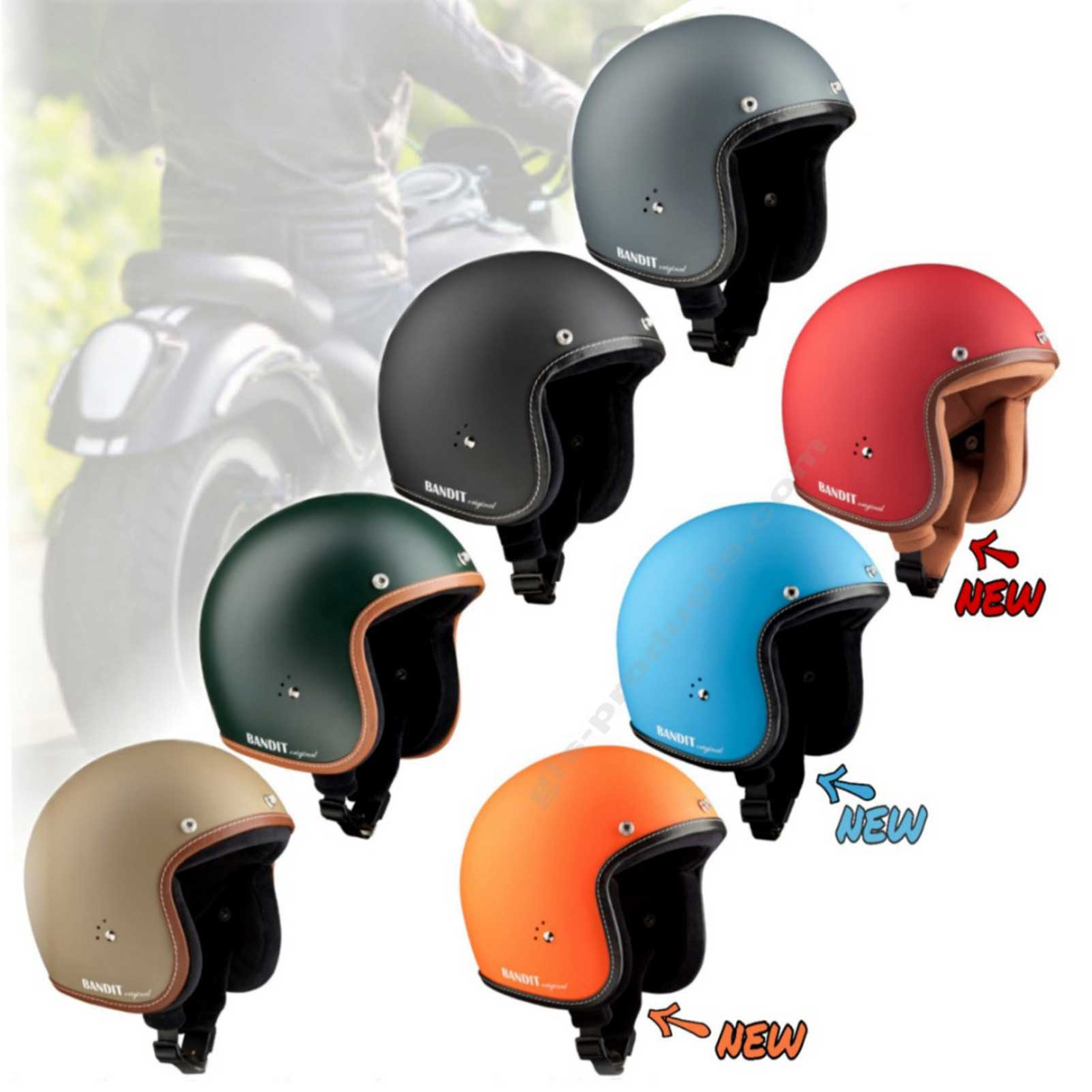 Bandit Helmets Premium Open Face Helmet – Picture 1