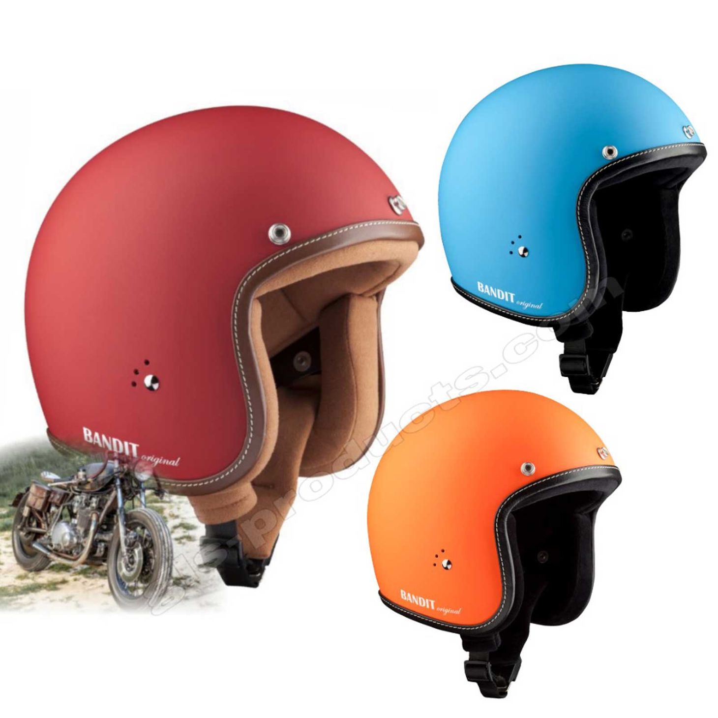 Bandit Helmets Premium Open Face Helmet – Picture 9