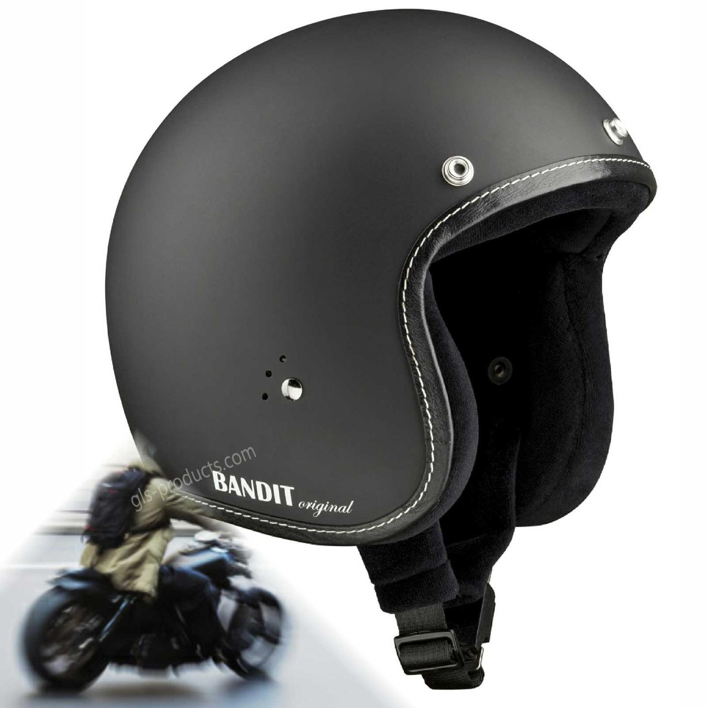 Bandit Helmets Premium Open Face Helmet – Picture 2