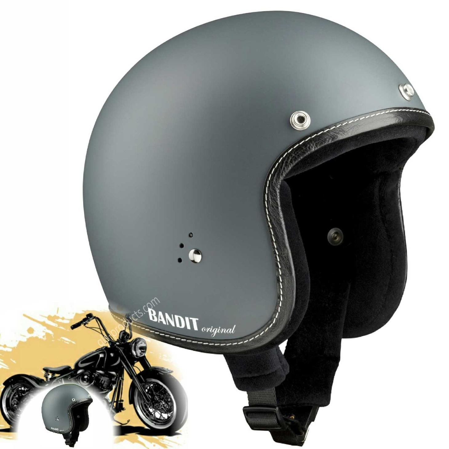 Bandit Helmets Premium Open Face Helmet – Picture 4
