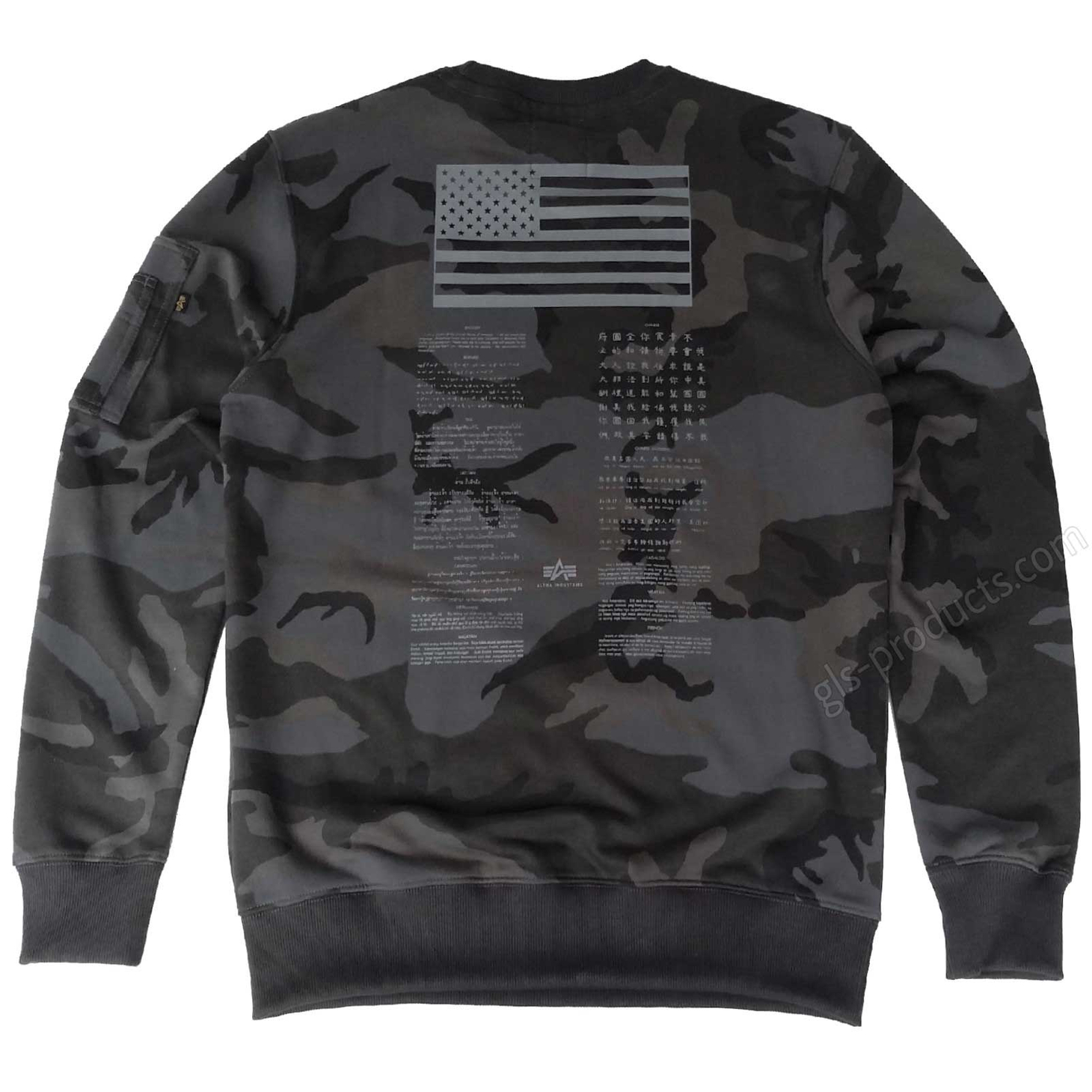 Alpha Industries Blood Chit Print Sweater 186302 – Picture 3