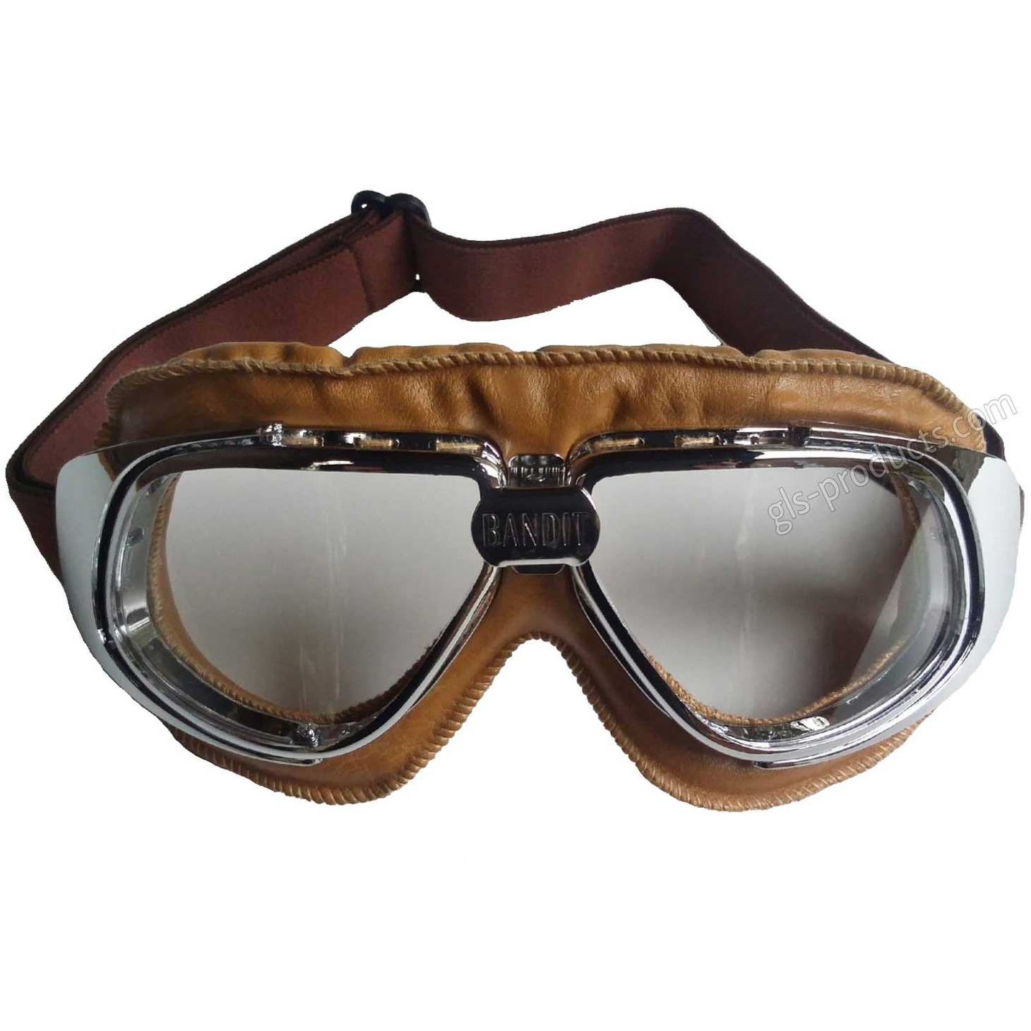 Bandit Motorcycle Glasses Goggles brown – Picture 2