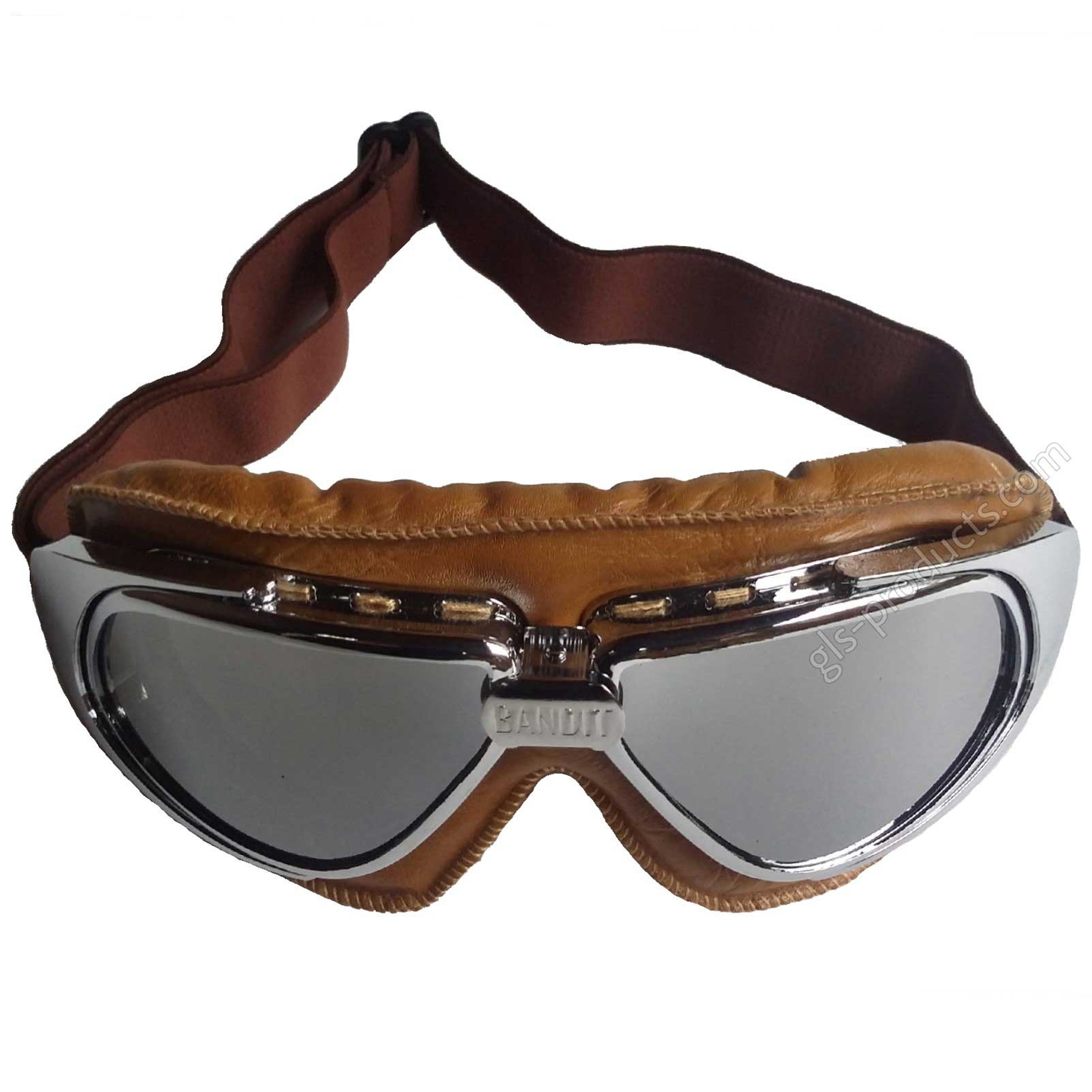Bandit Motorcycle Glasses Goggles brown – Picture 6