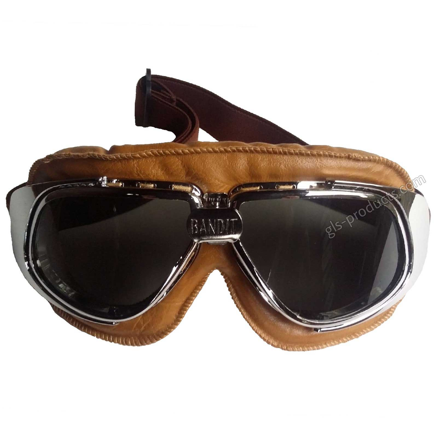 Bandit Motorcycle Glasses Goggles brown – Picture 3