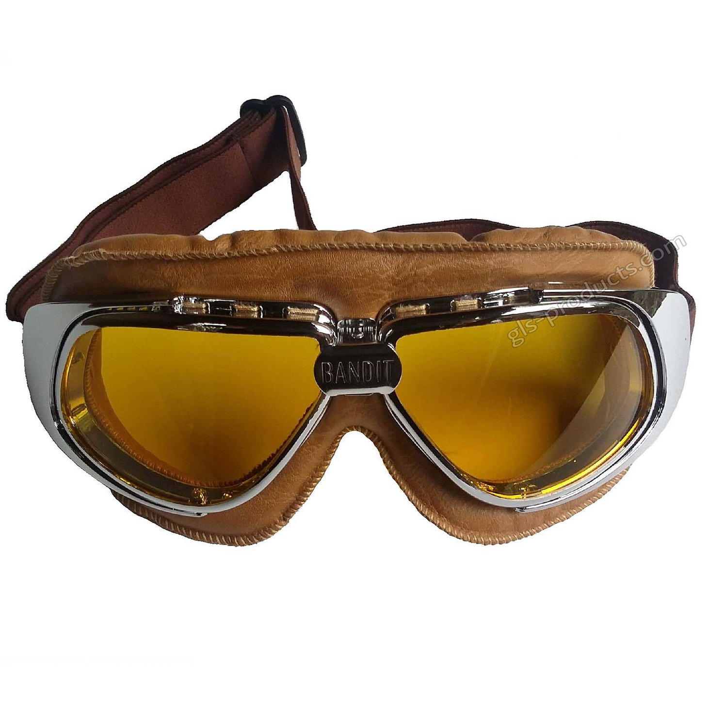 Bandit Motorcycle Glasses Goggles brown – Picture 5