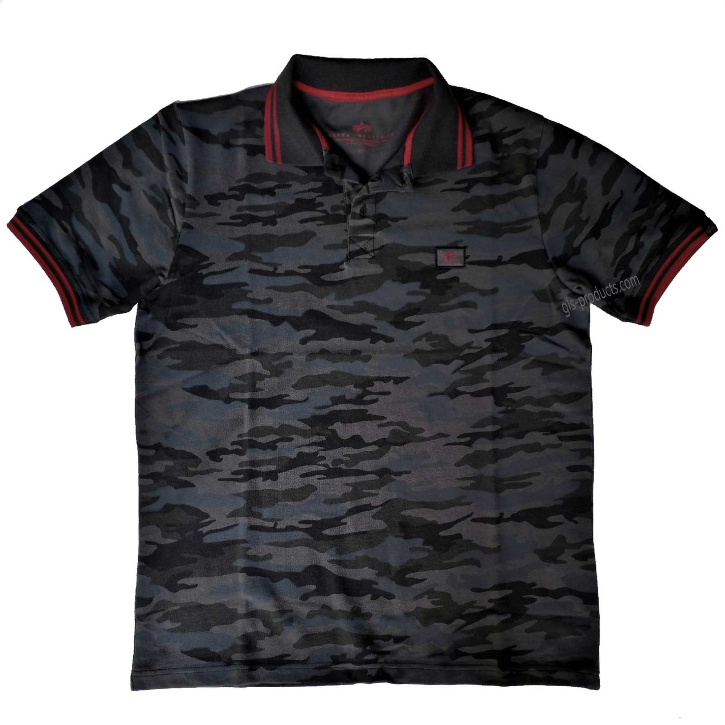Alpha Industries Twin Stripe Camo Polo 166603 – Picture 2