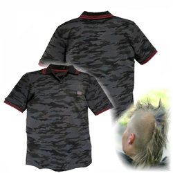 Alpha Industries Twin Stripe Camo Polo 166603 – Bild 1