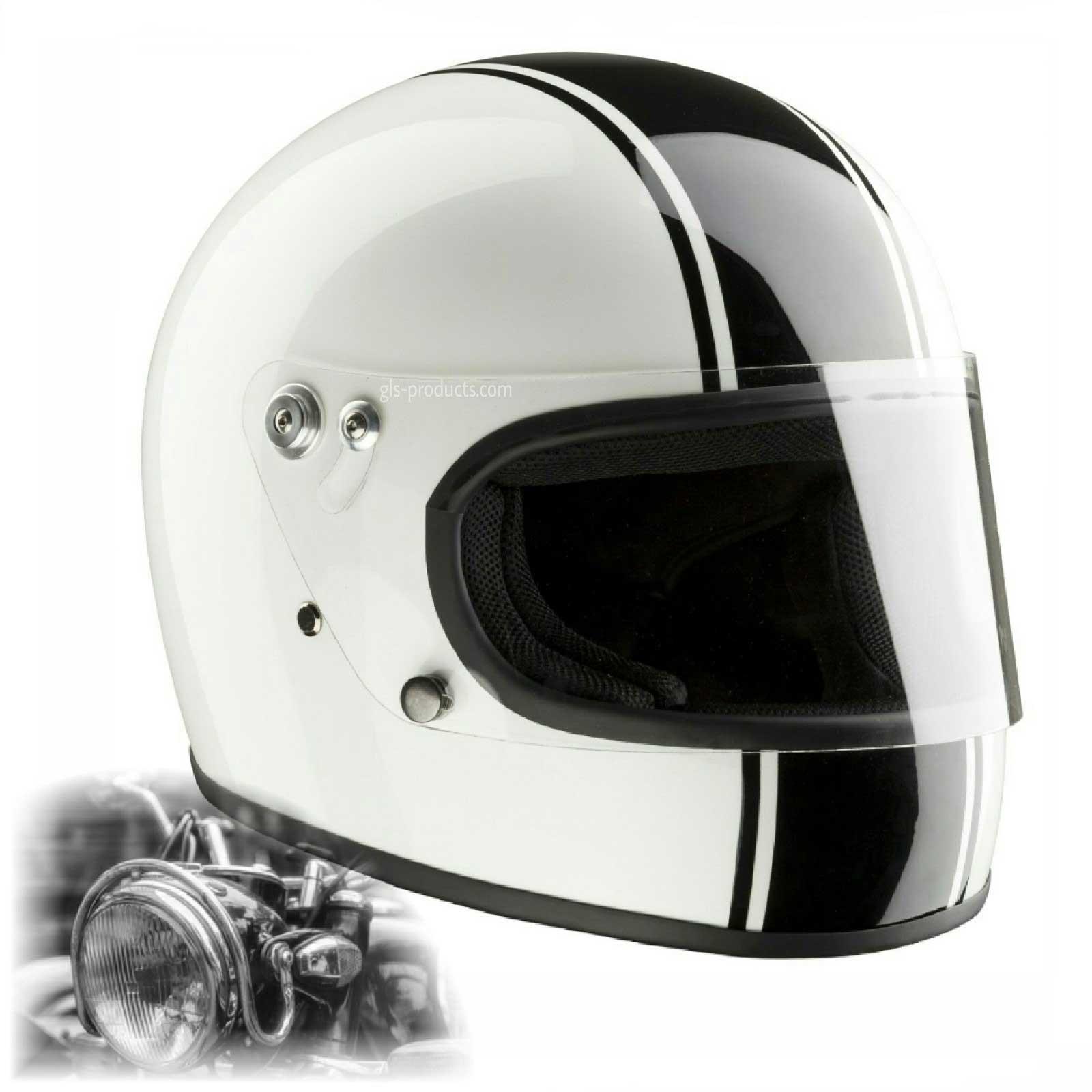 bandit integral ece 22 05 homologated retro motorcycle helmet. Black Bedroom Furniture Sets. Home Design Ideas
