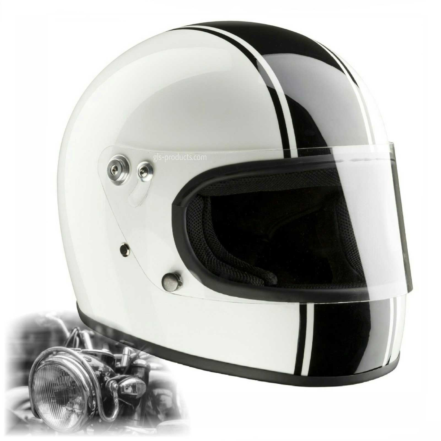 Bandit Integral ECE 22-05 homologated Retro Motorcycle Helmet – Picture 4