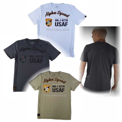 Alpha Squad T mit Military Brustdruck 188504 001