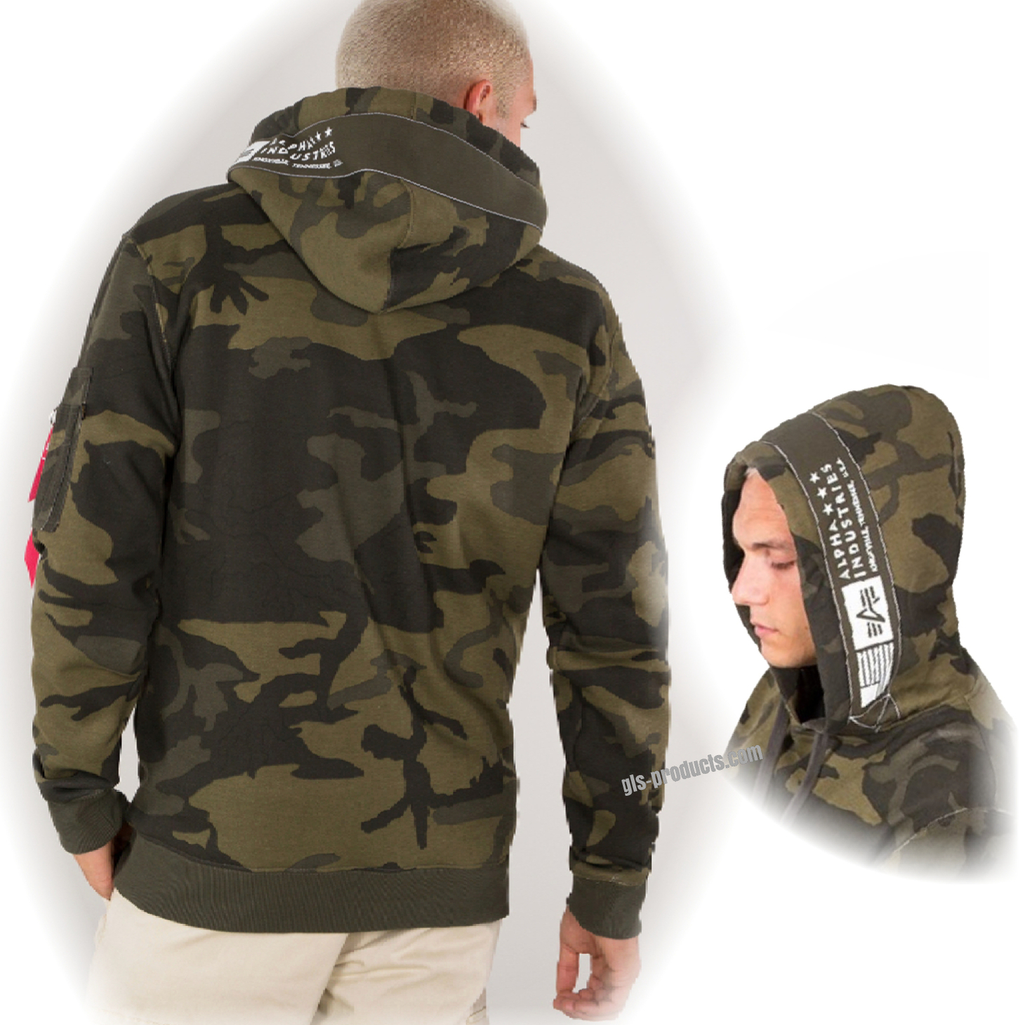 Alpha Printed Tape Hoody 188312 – Picture 4